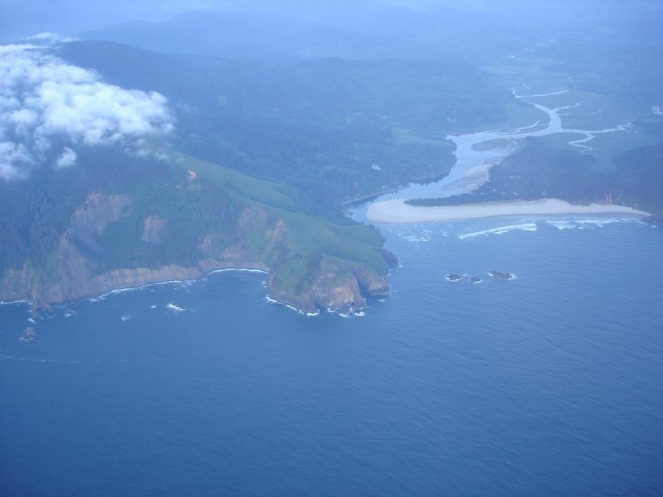 Mouth of the Salmon River on the Oregon Coast
