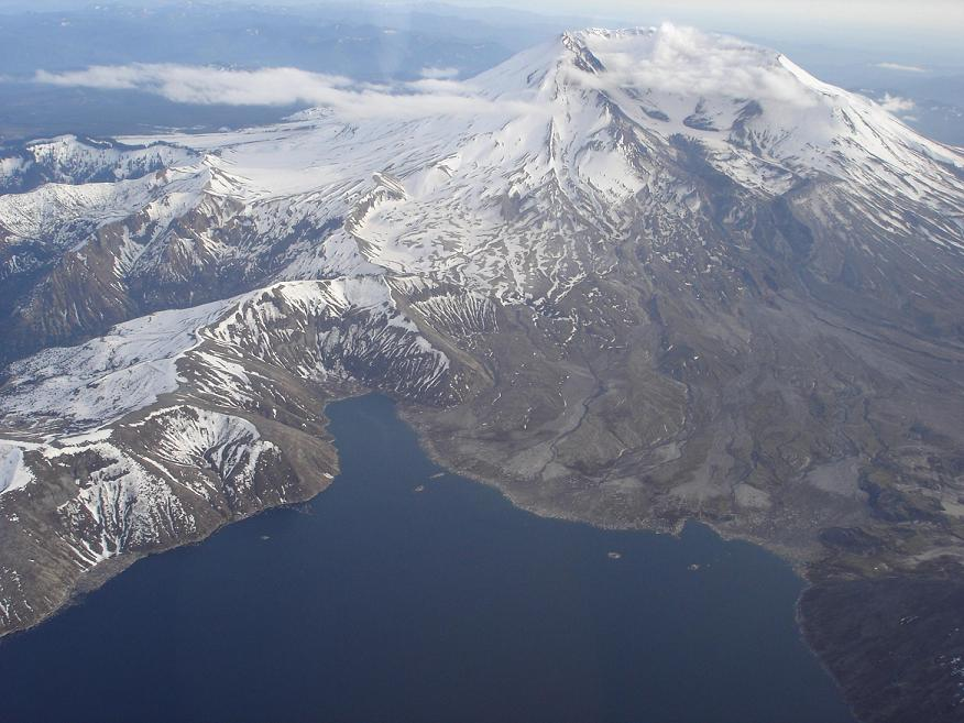 Mt. St. Helens and Spirit Lake from the North