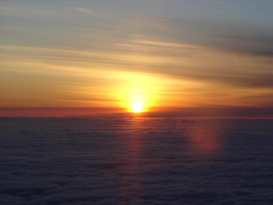 A Gorgeous Sunset, VFR over the top