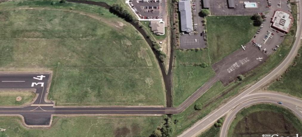 Satellite Image of the Taxiway to the Chinese Restaurant