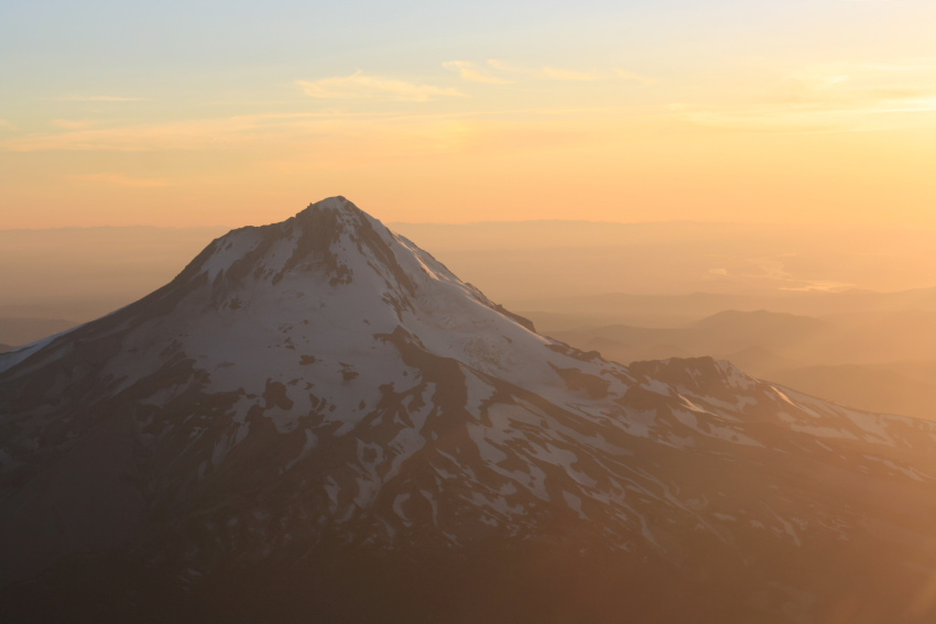 East Face of Mt. Hood Before Sunset